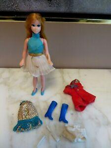 Vintage Dawn Doll Golden Blonde & Clothes lot