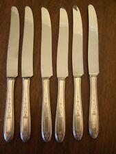 Community Grosvenor Dinner Knives Silverplate Stainless Blades - Set of 6