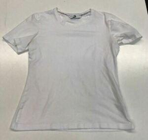 BMW: Women's Medium T-Shirt -- White cotton/elastane embroidered with BMW logo