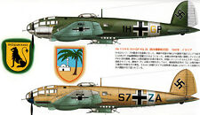 HEINKEL He-111 LUFTWAFFE BOMBER Famous Airplanes of the World FAOW Black No 186