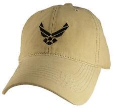 U.S. Air Force Insignia Hat / USAF Unstructured Khaki Baseball Cap