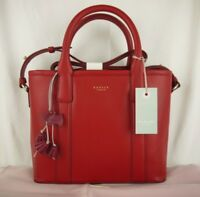 Radley Bourne Multiway Cross Across Body or Grab Bag Red Leather New
