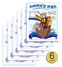 Set of 6 - Quality Noah's Ark Large Slide Puzzle, Brain Teaser - Wholesale Bulk