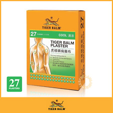 27 Plasters Tiger Balm Cool Cold Plaster-rd Medicated Pain Relief 10cm X 14cm