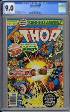 Thor King-Size Annual #7 CGC 9.0 VF/NM Wp Marvel 1978 Norse God Vs. Inca God