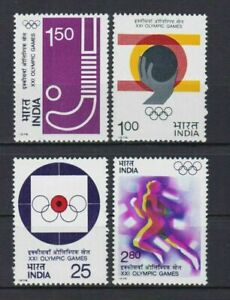 INDIA1976 : 21st Montreal Olympic Games , Scott # 724-27