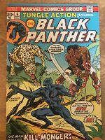 🔥JUNGLE ACTION #6VF+8.5GLOSSY🔥1st App Kill-Monger BLACK PANTHER MARVEL MCU9/73