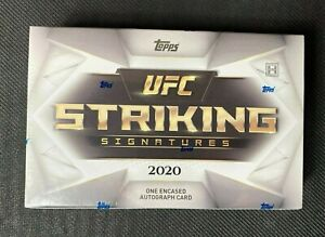 2020 Topps UFC Striking Signatures Sealed Hobby Box   Encased MMA Autograph Card