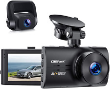 Campark Dual Dash Cam Native 4K1080P Front And Rear Car Camera, H.265, Night Vi