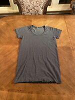 Lululemon Women's 8 Run Swiftly Tech Short Sleeve Shirt SS Top T Tee Striped