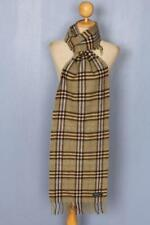 BURBERRY Scarf Green Check Cashmere Authentic