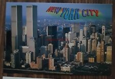 World Trade Center Twin Towers Postcard Pre 9/11 WTC VTG Authentic Original New