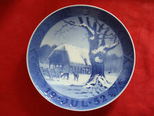"1952 ROYAL COPENHAGEN RC CHRISTMAS PLATE  "" CHRISTMAS IN THE FOREST """