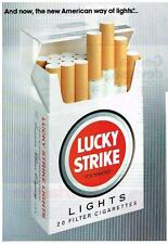 PUBLICITE  ADVERTISING  1991  LUCKY STRIKE   cigarettes