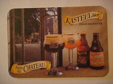 Beer Coaster Bar Mat ~ Brouwerij Van Honsebrouck KASTEEL Bier ~ Ingelmunster, BE