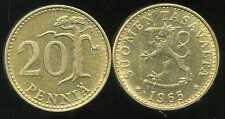 FINLANDE 20 pennia 1965