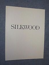 Original SILKWOOD PressKit Program Brochure CHER