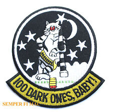 F-14 TOMCAT 100 DARK ONES BABY PATCH US NAVY USS TAILHOOK VF NAS MIRAMAR NARDET