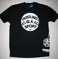Adidas Originals Hustling Is A Sport Tee BT6724 Men's Large (L) Black/White