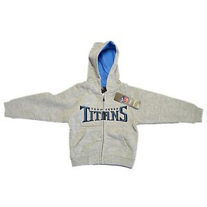 New NFL Tennessee Titans Hoody Sweatshirt Size 7 Zipper Hoodie Youth Boys
