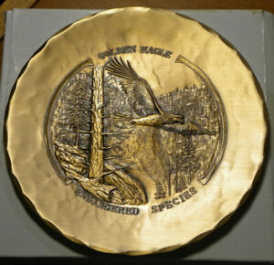 Hand-made 7-inch bronze plate: Golden Eagle by Natale, Leesburg, Pa.