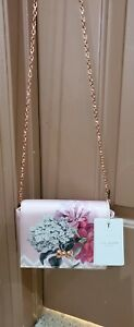 NWT$109 Ted Baker Pauleta Palace GardenChain Strap Evening Bag Floral Dusky Pink