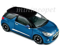 NOREV 181539 2011 11 CITROEN DS3 1/18 DIECAST BLUE with BLACK TOP