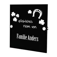 Plexiglas Acryltafel Türschild inkl. Gravur Motiv glückliches Heim