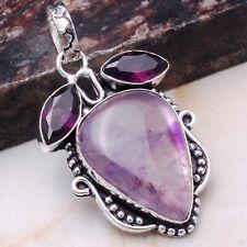 "Jewelry 2.08"" Ap 79858 Amethyst Ethnic Gift Handmade Pendant"