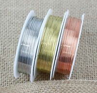 Silver Gold Copper Plated Beading Wire Craft 0.2mm - 1mm BUY 3 GET 3 FREE