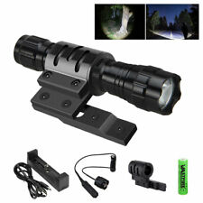 5000 Lumen Tactical Flashlight Rechargeable with Mlok Rail Mount Remote Switch