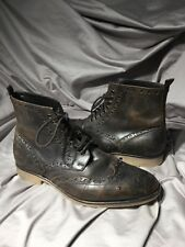 Wallin & Bros Brent Leather Wingtip Boots Brown Men Size 42 — US 9