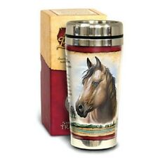 STAINLESS  STEEL TRAVEL MUG AMERICAN EXPEDITION  '''  MUSTANG  ''''  NEW