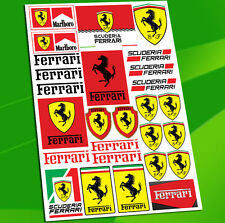 Planche 27 Autocollants Auto Moto Voiture Stickers Ferrari Scuderia Racing D 21