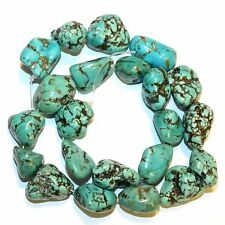 NG2625fa Blue & Green Turquoise (16-22mm) Nugget Magnesite Gemstone Beads 15""