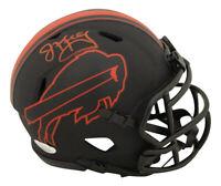 Jim Kelly Autographed/Signed Buffalo Bills Eclipse Mini Helmet JSA 28288