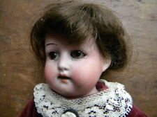 """Antique Heubach Koppelsdorf Doll Bisque Head Leather Body 12"""" Tall"""