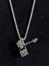Silver Tone Box Chest Lock Love Charm Necklace