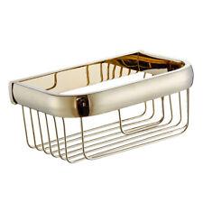 Shower Caddy Basket Shampoo Soap Shelf Bath Storage Organizer Brass Gold