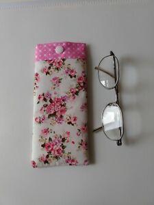 Glasses Case/Pouch. Handmade In Designer Fabric. Lovely Gift New.