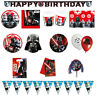 Star Wars Birthday Party Supplies Plates Cups Napkins Tablecover Banner Balloons