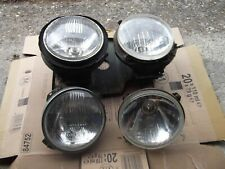 FORD ESCORT MK2 RS2000 DROOP SNOOT FRONT HEADLIGHTS X 4 & MOUNTING PLATE