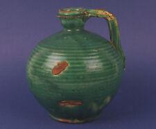 Antique Chinese Ceramic Porcelain Green Wine Jug Pitcher