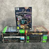 PC Game Bundle Lot Collection Selection x15 Hidden Object Mystery Horror Myst