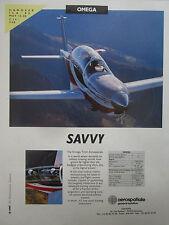 5/1990 PUB SOCATA AEROSPATIALE AVION OMEGA AIRCRAFT MILITARY TRAINER HANNOVER AD