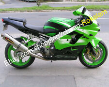 For Kawasaki NINJA 2002 2003 ZX9R ZX-9R ZX 9R Green Black Motorcycle Fairing Kit