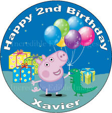 Peppa Pig George 19cm Edible ICING Personalised Cake Topper Party Decoration