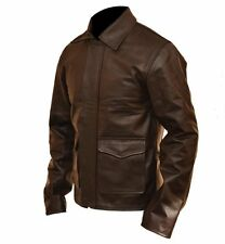 Indiana Jones Harrison Ford Classic Genuine brown Cow Hide Real Leather Jacket