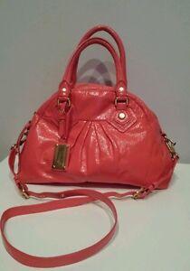NEW MARC JACOBS CLASSIC Q BABY AIDAN SATCHEL BAG-VIBRANT RED-$478 R-HANDBAG-TOTE