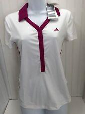 Adidas Ladies Golf Tennis Polo Small White w/ Tags 23186 ClimaCool P93073